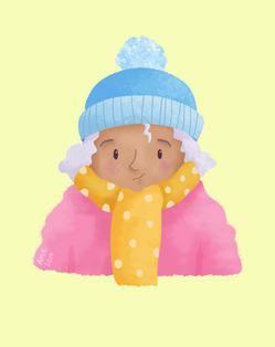 Pastel lady