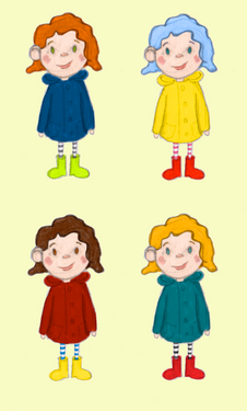 Raincoat girls