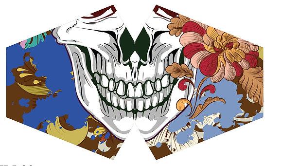 Reusable Fashion Face Mask - Colourful Calavera (Children)