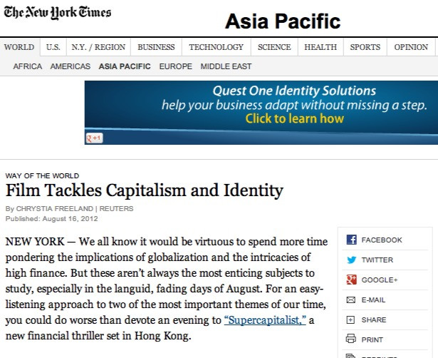 NY Times review by Chrystia Freeland