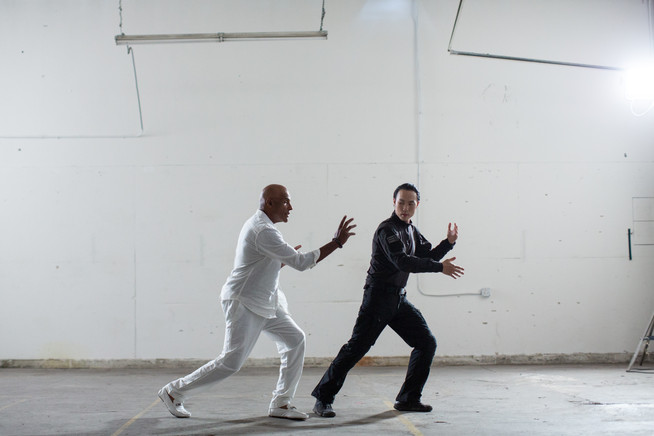 Derek Ting and Michael Dorn in Agent Revelation