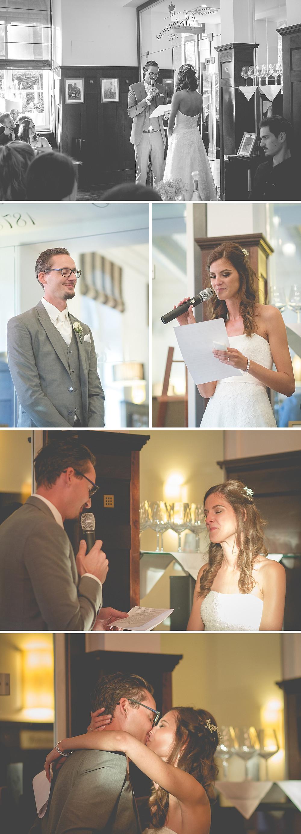 emotionales Eheversprechen Brautpaar - Hochzeit Kaiserbahnhof Brühl