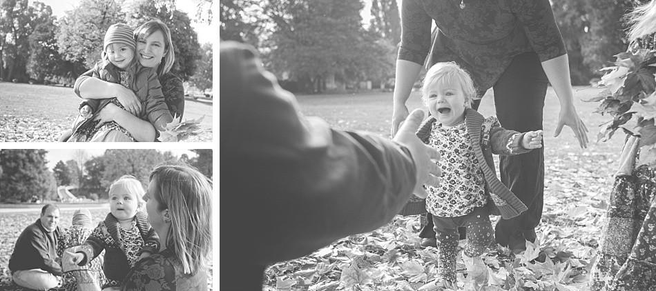 natürliche Familienfotos im Park