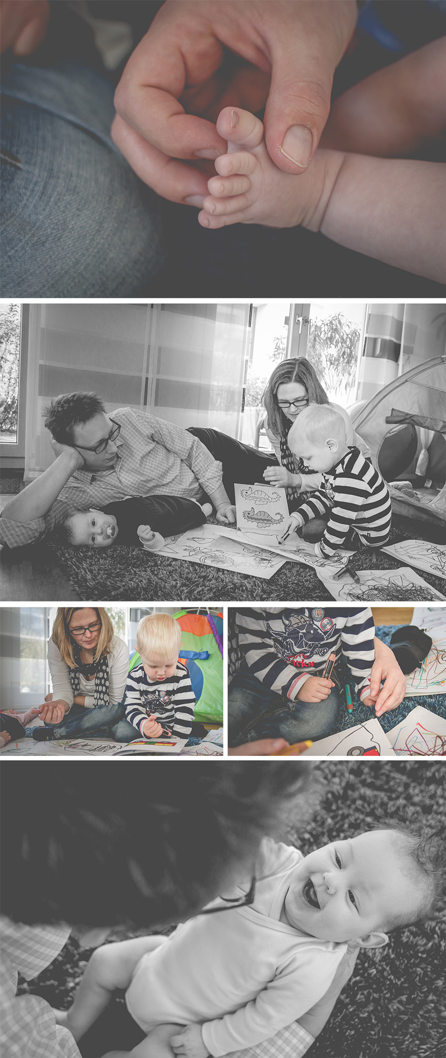 natürliche Familienfotografie im eigenen zuhause