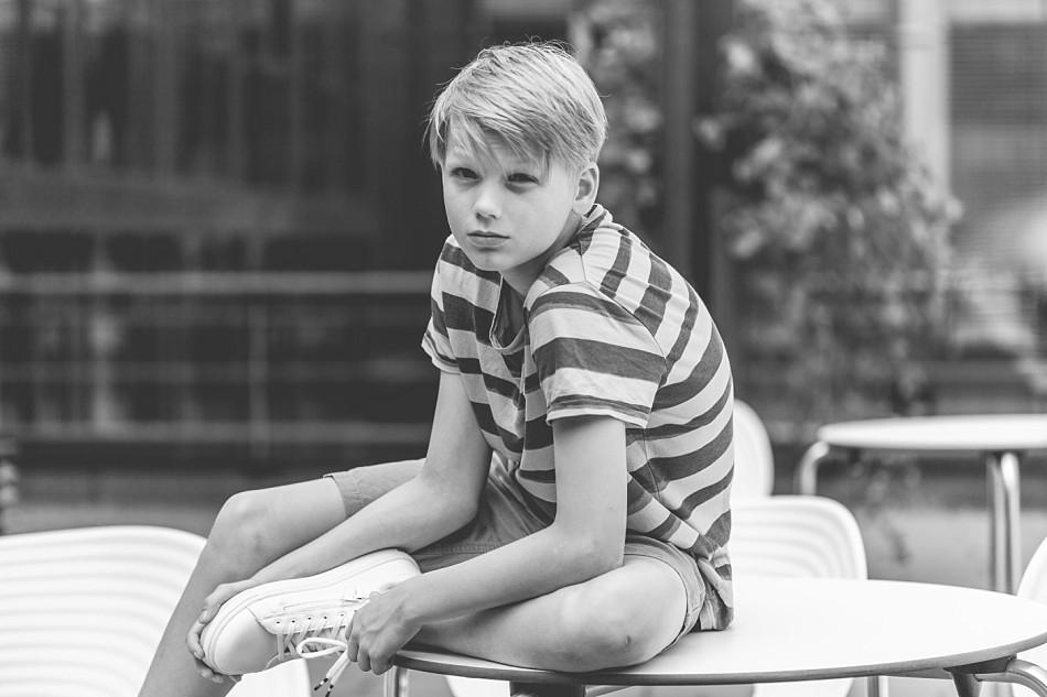 Caspar Hoffmann, Schauspieler, Tatort, Teenager, Portrait schwarz weiß, Claudia Kneist Photographie