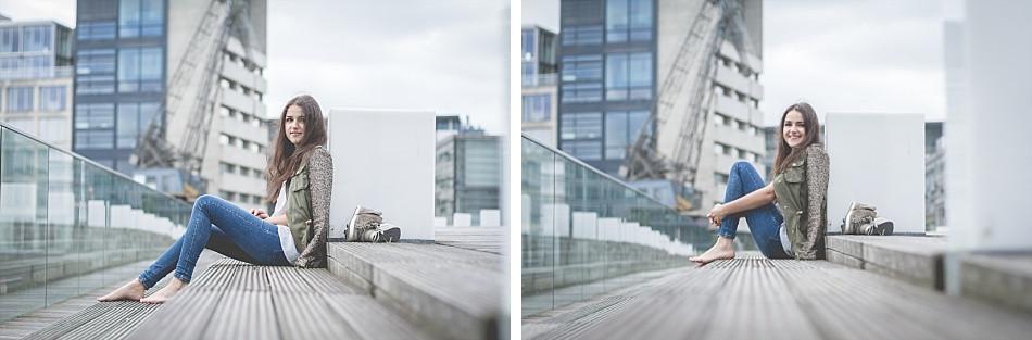 Portraitshooting mit Laura Pinski im Medienhafen Düsseldorf