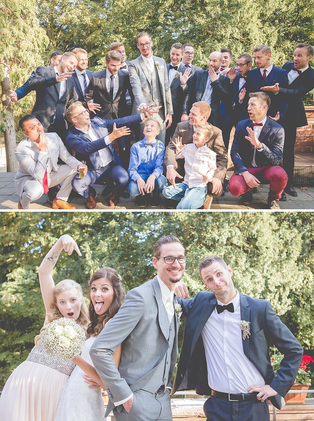 lustige Standard-Gruppenfotos Hochzeit
