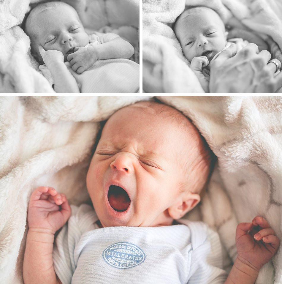 natürliche Neugeborenenfotos Zuhause