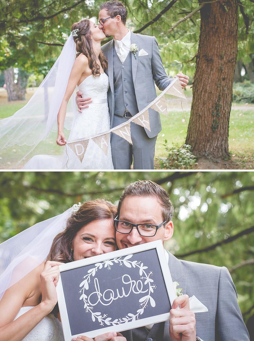 Idee Dankefotos Brautpaar