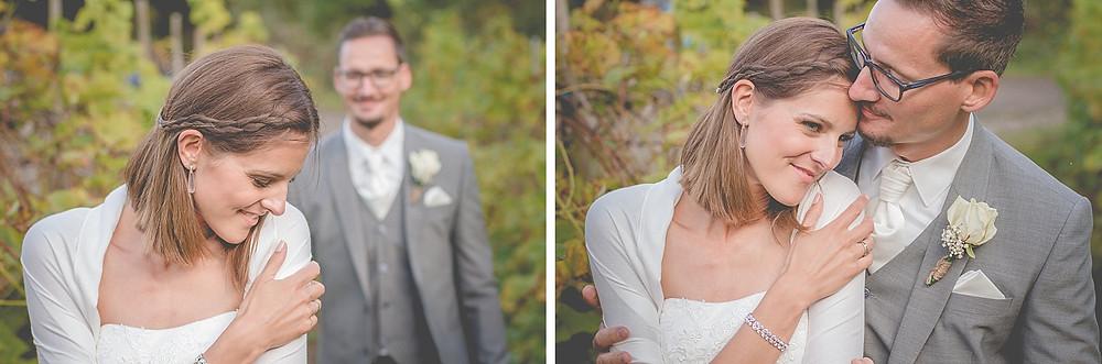 Brautpaarfotos in den Weinbergen - Ideen