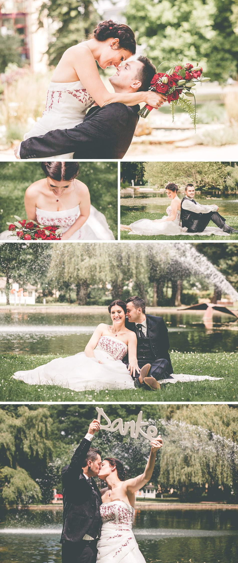 Brautpaarfotos Kurpark Hennef