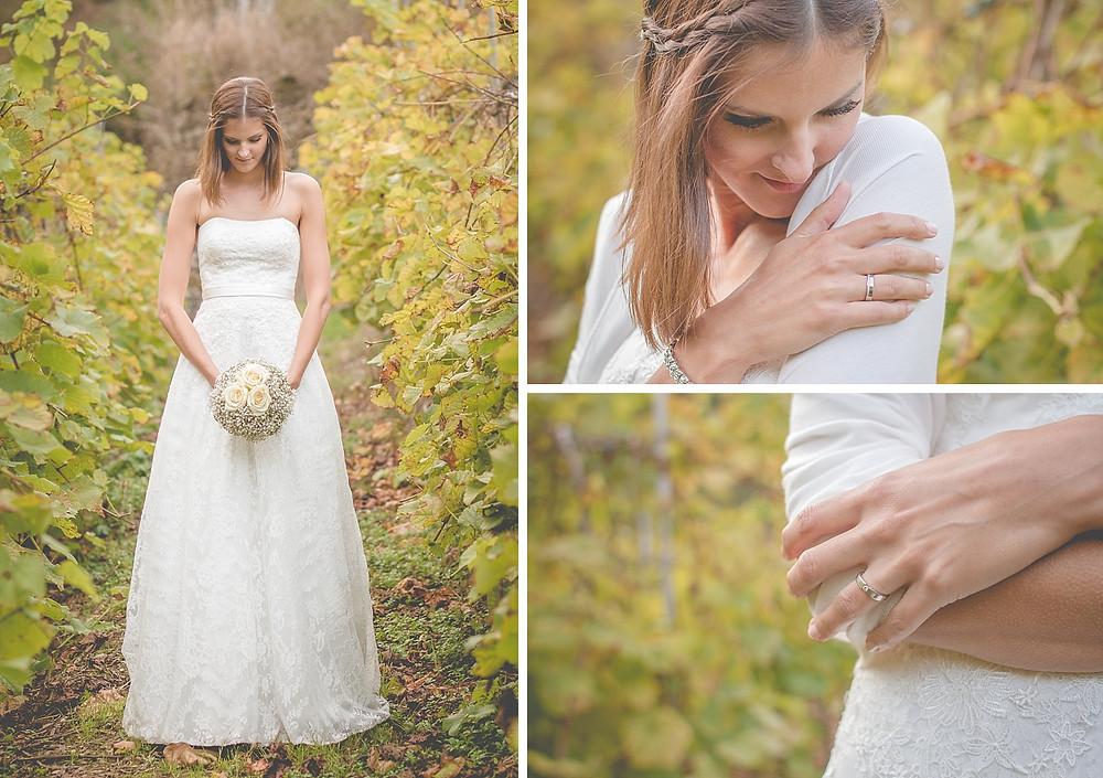 Brautfotos in den Weinbergen - After Wedding Shooting