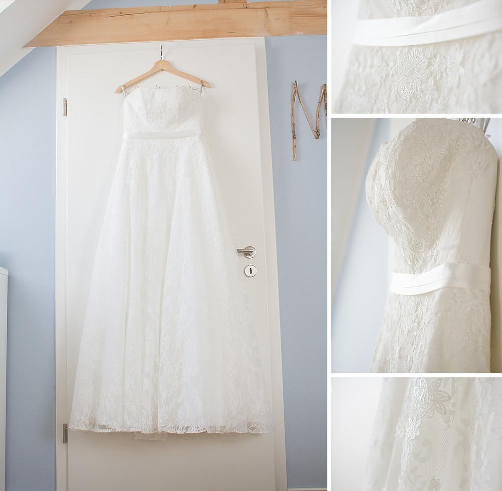 Detailaufnahmen Hochzeitskleid / Brautvorbereitung