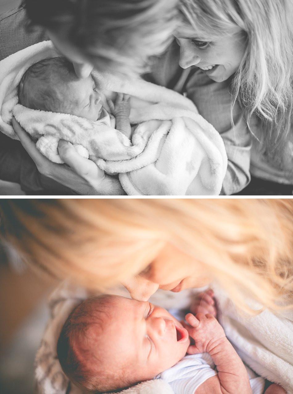 innige Neugeborenenfotos mit Mama & Papa
