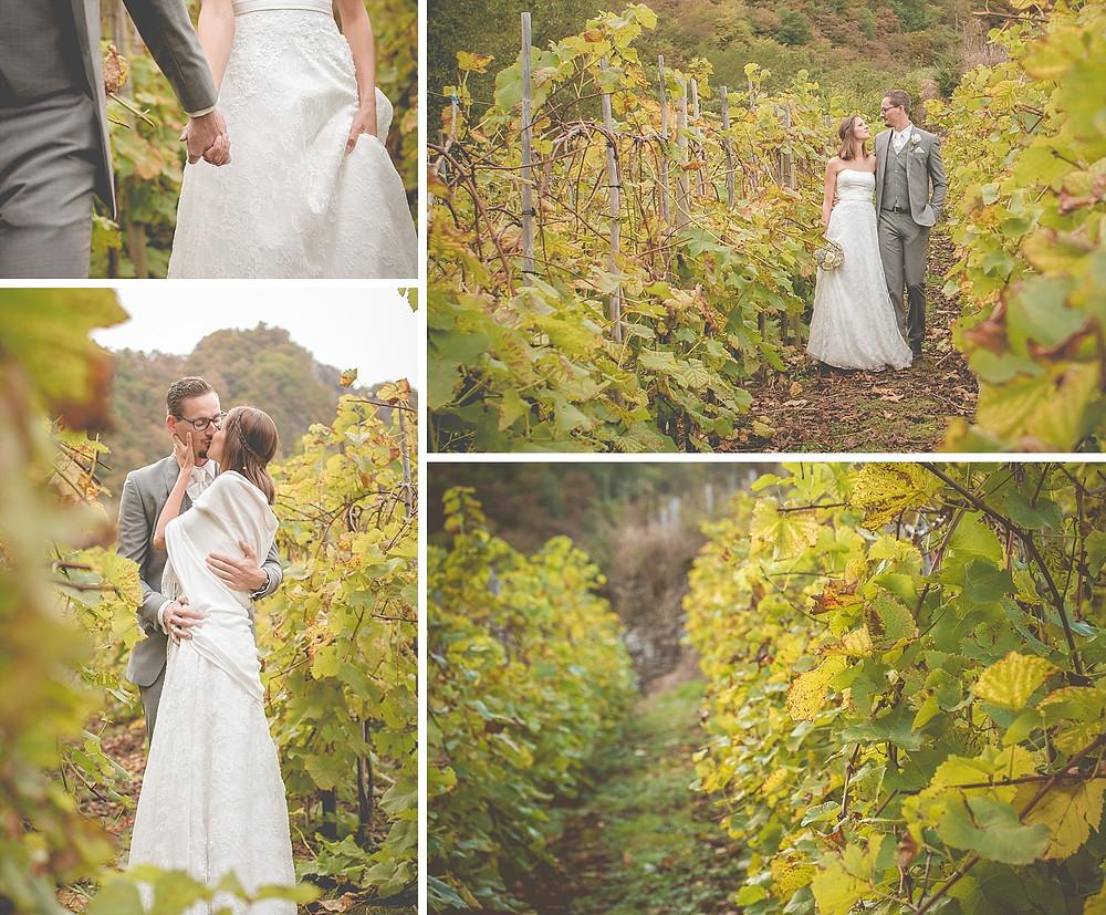 Brautpaarfotos in den Weinbergen - After Wedding Shooting