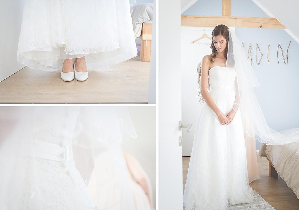 Aufnahmen während der Brautvorbereitung