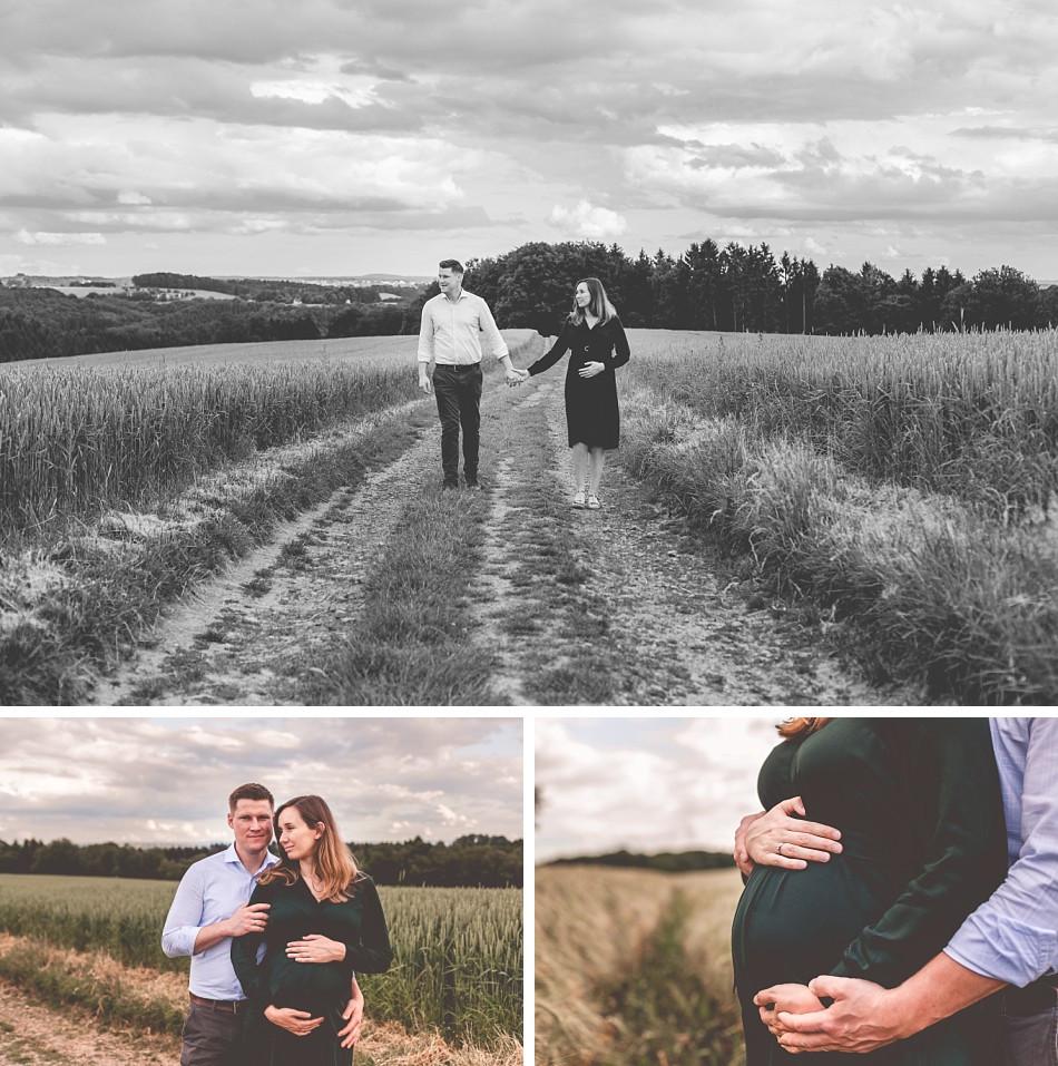 Babybauchfotos Paarfotos Felder Lohmar Köln I Claudia Kneist Photographie