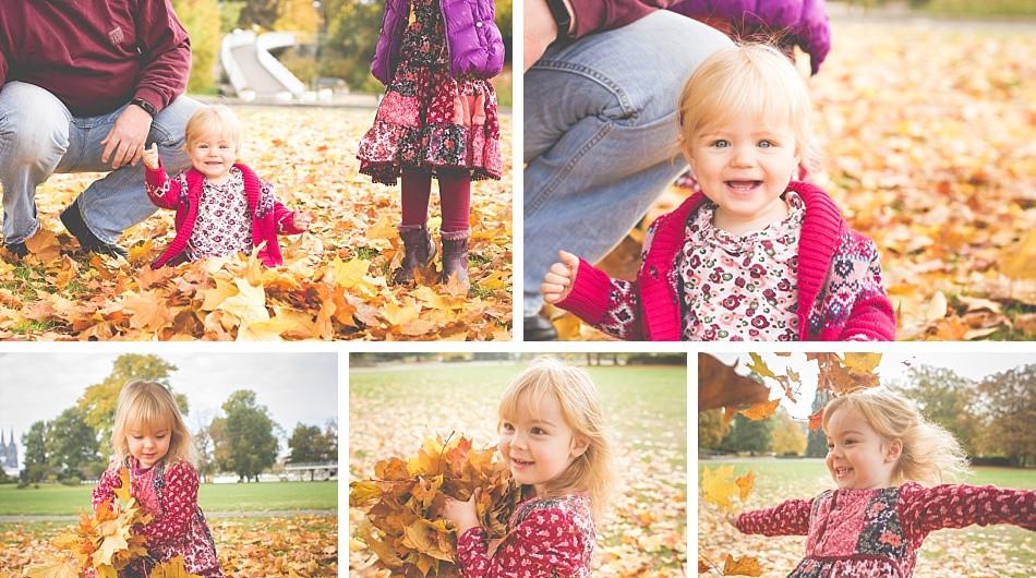 Kinderfotos im Herbst draußen