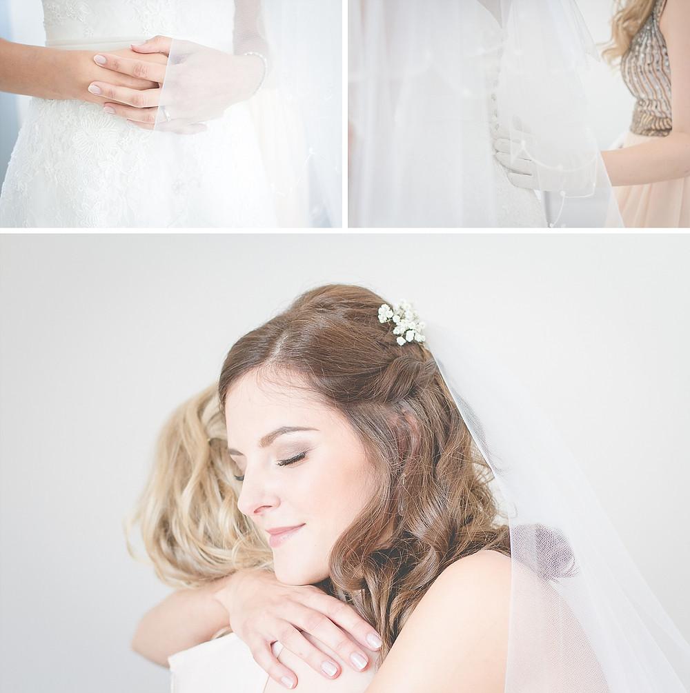 emotionale Fotos während der Brautvorbereitung