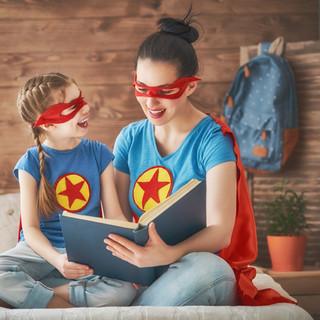 girl-and-mom-in-superhero-costume-WJ4K2G