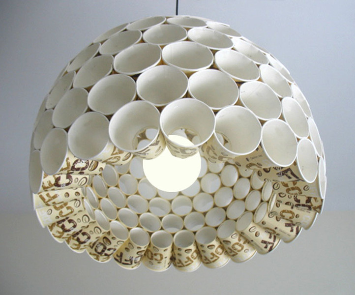 Recycled  Cups lampshade