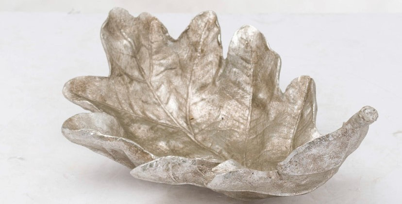 Silver Leaf Bowl