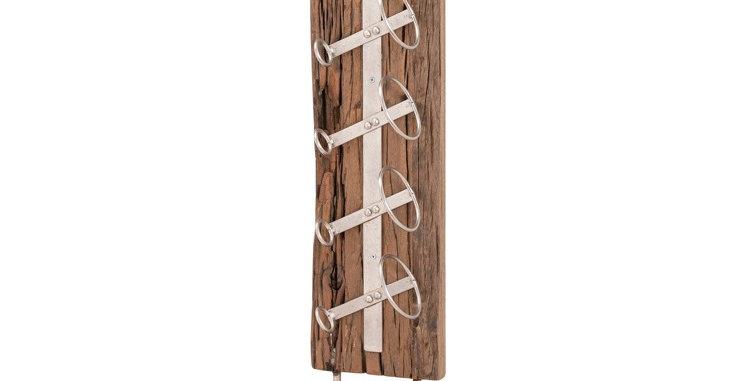 Floor Standing Reclaimed Timber 6 Bottle Wine Rack