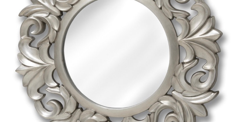 Large Baroque Circular Mirror