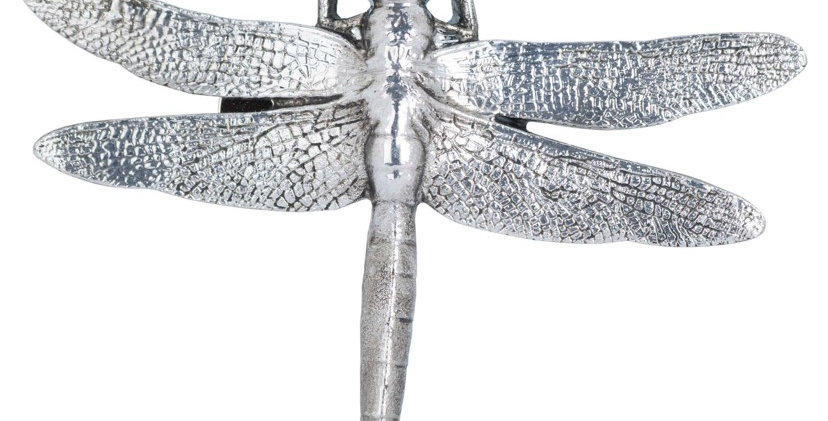 Antique Silver Dragonfly Decorative Clip