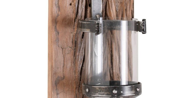 Reclaimed Wooden Wall Sconce