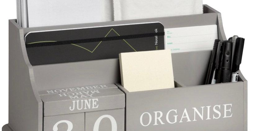 Grey Organise Desktop Organiser