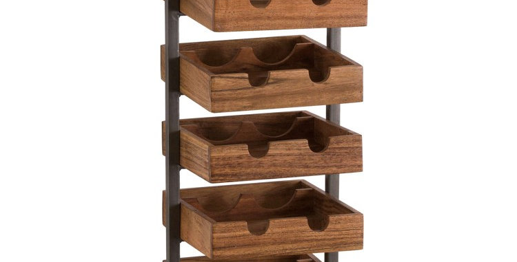 The Edge Collection 10 Bottle Hanging Wine Rack