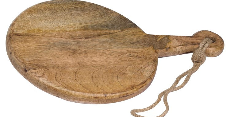 Round Hanging Hard Wood Chopping Board