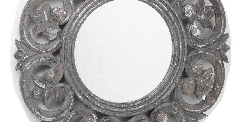 Brinley Antique Mettallic Circular Mirror