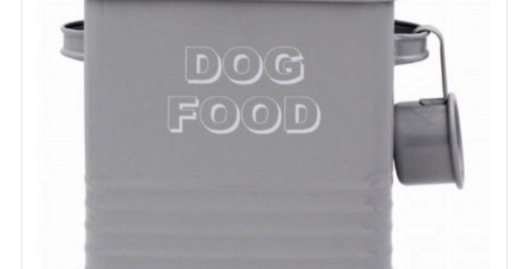 Dog Food Tin with Serving Spoon