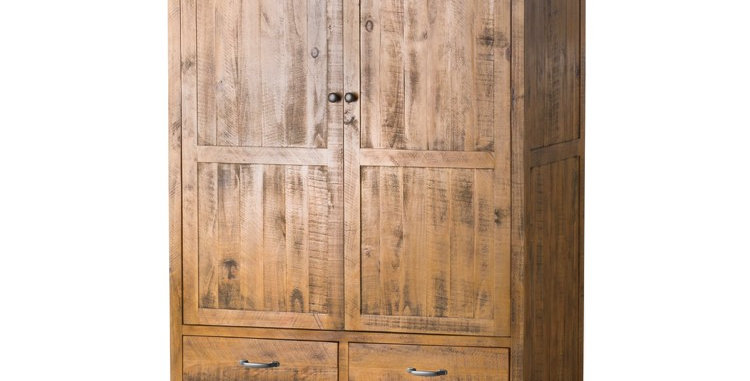 The Deanery Collection Three Drawer Two Door Wardrobe