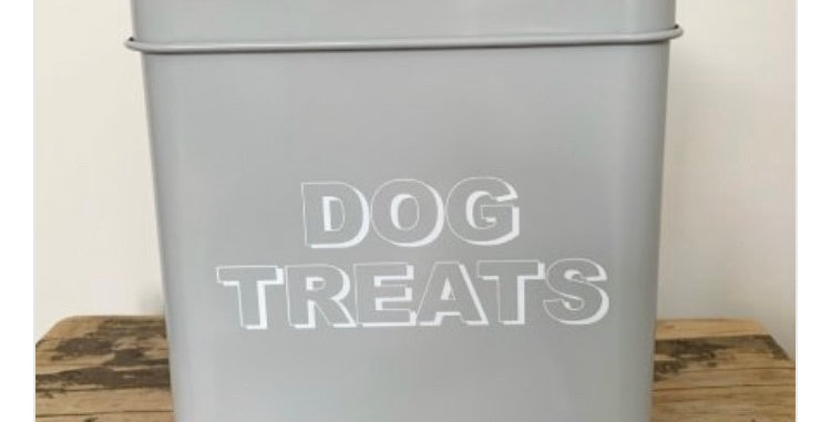 Metal Dog Treats Storage Tin