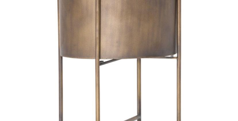Large Bronze Planter On Frame