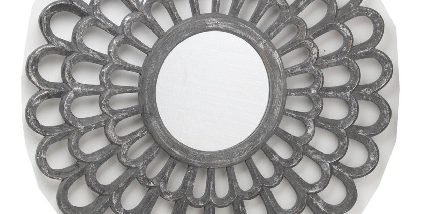 Odessy Carved Antique Matallic Mirror