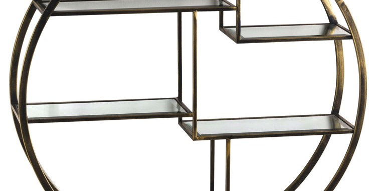 Antique Brass Large Multi Shelf
