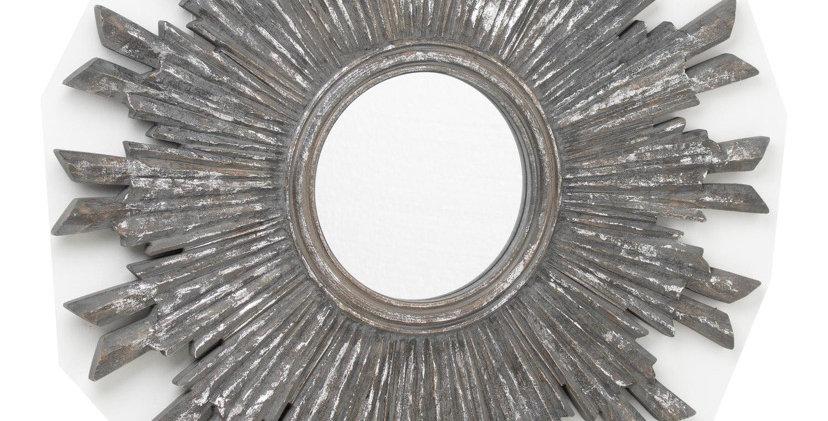 Circular Antique Matalic Burst Mirror