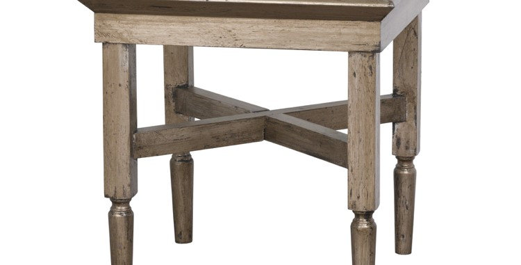 Astor Glass Side Table With Mirror Detailing