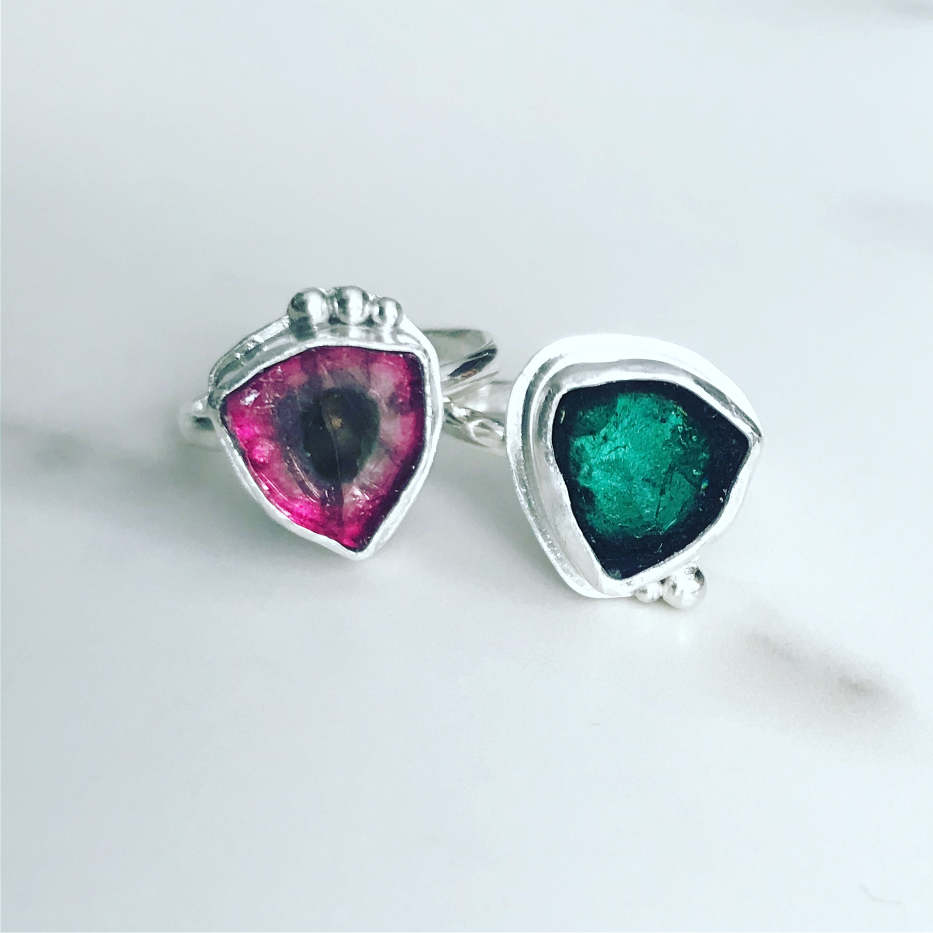 caro designs - tourmaline rings