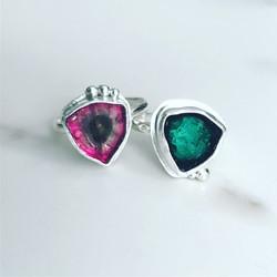 caro designs - tourmaline rings