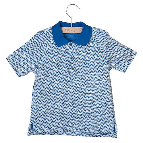 Short Sleeve Polo Max Jacouardblue