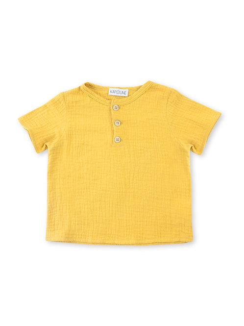 Shirt in double Gauze OCHRE