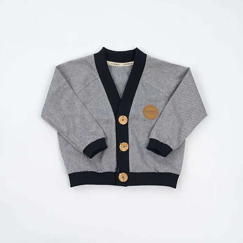 Cardigan Denim&Blue Rib