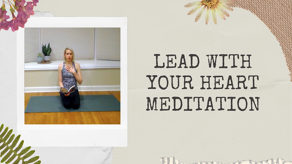 Julie M. Gentile Lead With Your Heart Meditation YouTube Channel Video Image.