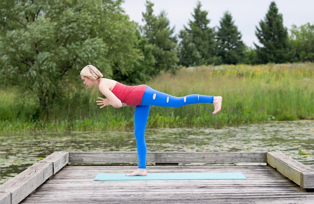 yoga, warrior, warrior 3, self-care, juliegtheyogi, busy mom, busy mama, progress, growth, change