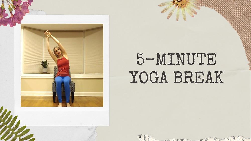 yoga, self-care, juliegtheyogi, author, yoga teacher, busy mom, busy mama, mind, body, spirit, YouTube channel, YouTube, YouTube video, yoga video, yoga break, chair yoga, at-home yoga, yoga at home, office yoga, self-care video